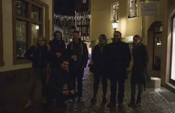 Pechmarie Dreh: Gruppenfoto Abschlussszene