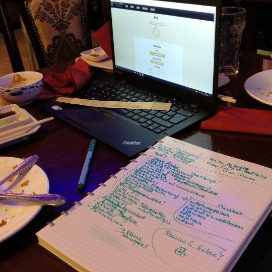 Castingpage im Asia Restaurant