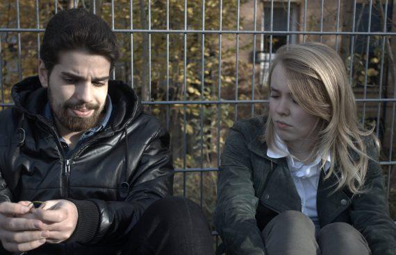 Pechmarie Proben: Birin und Helena nachdenklich
