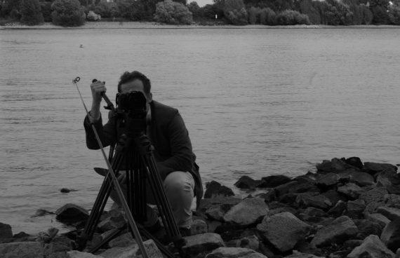 Schatten der Erde Dreh: Leon an der Kamera
